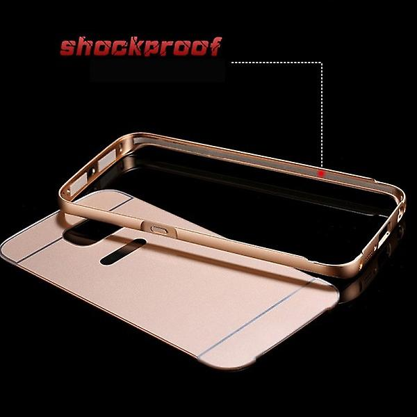 Aluminium bumper 2 pieces with cover gold for Samsung Galaxy S6 G920 G920F