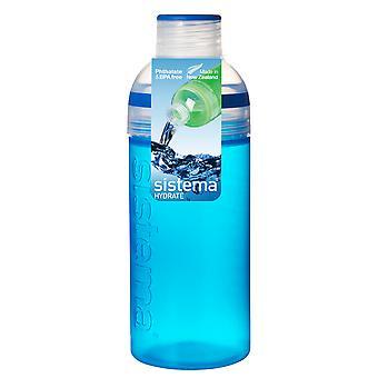 Sistema Trio Drink flaske 580ml, blå