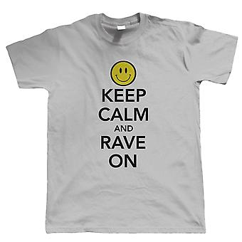 Vectorbomb, Keep Calm and Rave On, Mens T Shirt (S to 5XL)