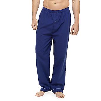 Mens Soft Feel Pyjama Bottoms with Button Fly (Pack of 2)