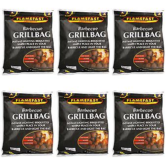 Flamefast Barbecue Grill tas 1,4 kg - 6 Pack