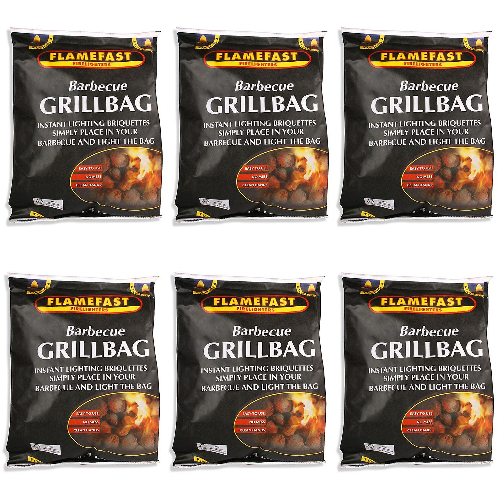 Flamefast Barbecue Grill Bag 1.4kg - 6 Pack