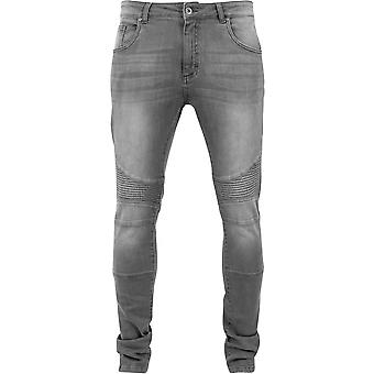 Urban Classics Grey Slim Fit Jeans Biker