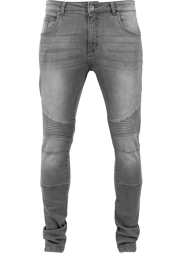Urban Classics Grey Slim Fit Biker Jeans