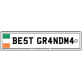 Ireland - Best Grandma License Plate Car Air Freshener