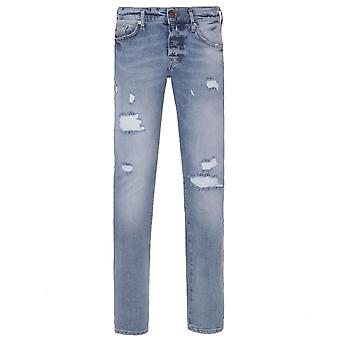 True Religion Rocco Distressed Blue Relaxed Skinny Denim Jeans