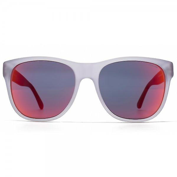 Police Retro Sunglasses In Matte Clear And Red