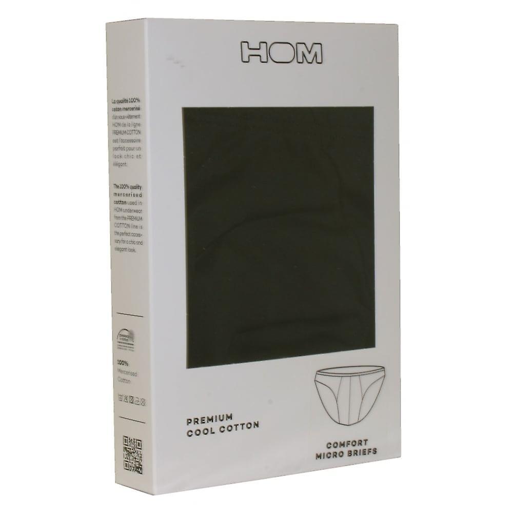 Hom Premium Cotton Comfort Micro Brief, Black