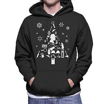 Christmas Tree Sherlock Holmes Men's Hooded Sweatshirt