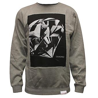 Diamond Supply Co Diamantschliff Sweatshirt grau