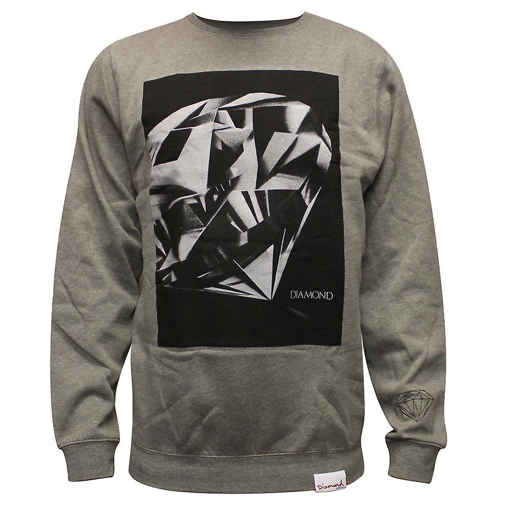 Diamond forsyning Co diamant kuttet Sweatshirt grå