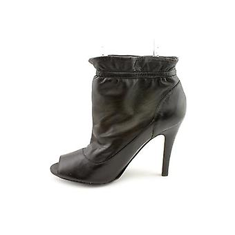 M.F. Bubble Ankle Booties - Black Leather