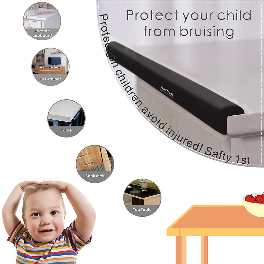 Tritina Corner and Edge Guards - 14ft (4.3m) [ 13ftEdge Cushion + 8 Corner Cushion] Premium Childproofing Protector,Child Safety,Home Safety 1st Mamami