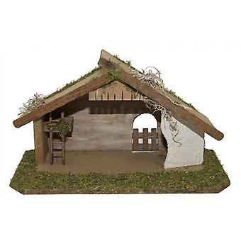 Crib Nativity stable AARON Holz hand work for characters up to 9 cm
