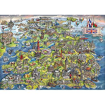 Gibsons Beautiful Britain Jigsaw Puzzle (1000 Pieces)