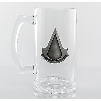Assassins Creed Logo Stein verre