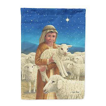 Carolines Schätze ASA2141CHF Hirte und seine Schafe Flagge Leinwandgröße Haus