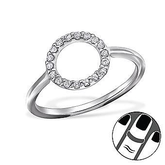 Circle - 925 Sterling Silver Midi Rings