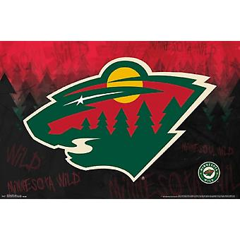 Minnesota Wild - Logo Poster Poster Print