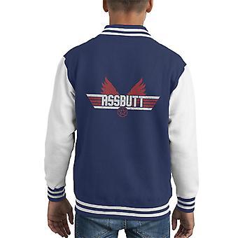 Supernatural Top Gun Assbutt Mix Kid's Varsity Jacket