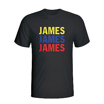 James Rodriguez Colombia spelare flagga T-shirt (svart) - barn