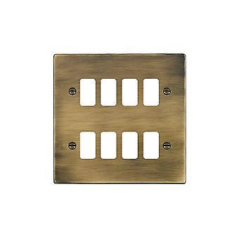 Hamilton Litestat Hartland Antique Brass 8g Apert Gridfix Plate+Grid
