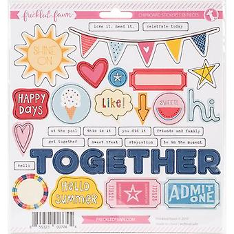 Freckled Fawn Chipboard Stickers-Admit One CBJUL17