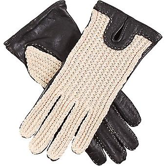 Dents Kelly Crochet Back Driving Gloves - Black