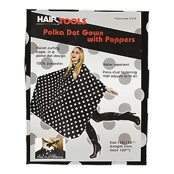 Hairtools Polka Dot Gown With Poppers