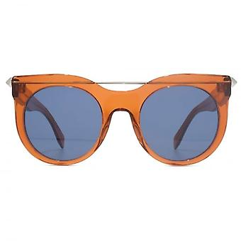 Alexander McQueen Piercing Bar Sunglasses In Orange