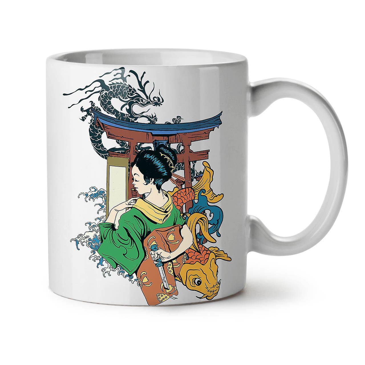 Japon 11 Thé Mystic OzWellcoda Nouveau Céramique Tasse Blanc Café Art 3q4RLAj5