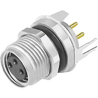 Sensor/actuator built-in connector M8 Socket, straight No. of p