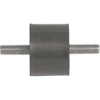 PB Fastener 100052 Threaded Buffer Outer-/outer thread Black