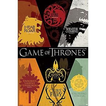 Game of Thrones (Sigils) maxi poster