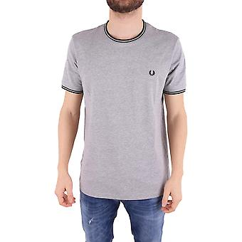 Fred Perry men's FPM158825234 grey cotton T-Shirt