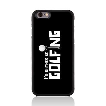 Call Candy Apple iPhone 7 Sporty I'd rather be Golfing 2D Printed Case-Black