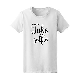 Ottaa Selfie valokuvaus uusinta grafiikkaa Tee - kuvan Shutterstock