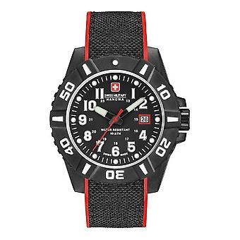 Swiss military Hanowa mens watch black carbon 06-4309.17.007.04
