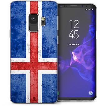 Samsung Galaxy S9 Retro IJsland vlag TPU Gel Case - blauw