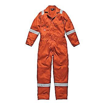 Dickies Mens Workwear Cotton Lightweight Coverall Orange WD2279LWO