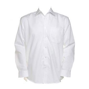 Kustom Kit Mens Business Colours Long Sleeved Tailored Fit Work Shirt