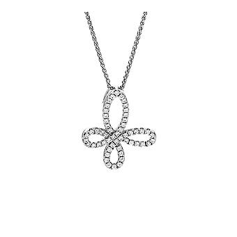 Łańcuch Orphelia srebro 925 wisiorek elegancki kształt z cyrkonu ZH-7350