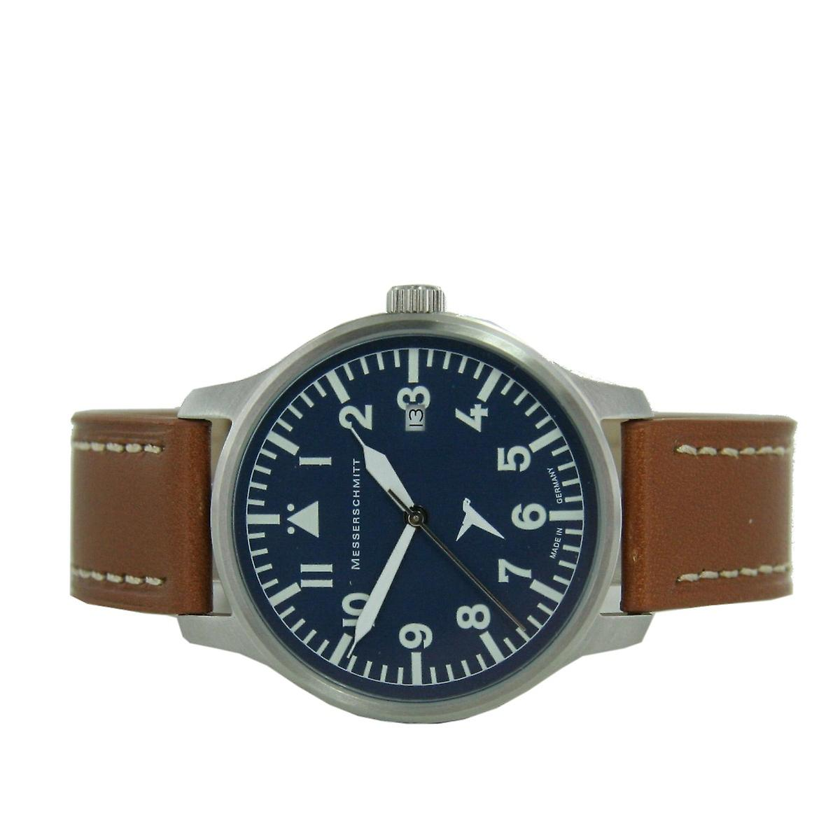 Aristo gentlemen Messerschmitt Fliegeruhr ME BLAUE42B Blau watch