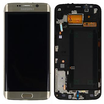 Display LCD komplet sæt touch guld til Samsung Galaxy S6 kant G925 G925F