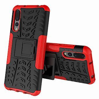 For Huawei P20 per hybrid tilfelle 2 brikke Koczian utendørs røde veske bag ermet dekke beskyttelse