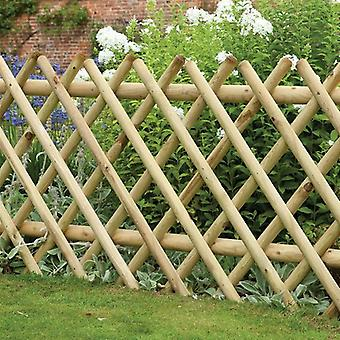 Forest Garden Diamond 3ft Expanding Wooden Picket Fence