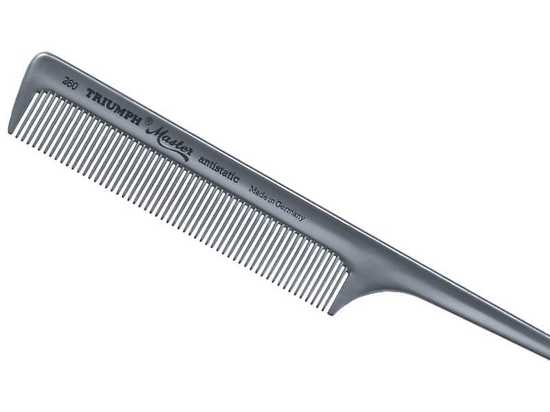 """Triumph Master Tail Comb Silver  8"""""""