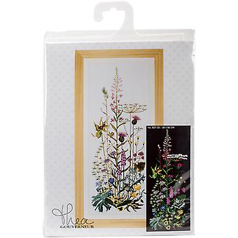Wild Flowers On Aida Counted Cross Stitch Kit-15