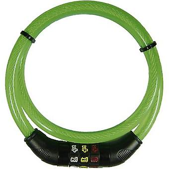 Security Plus CSL80grün Steel cable lock Green Symbol combination lock