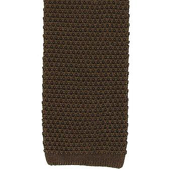 Michelsons i London Silk Knitted Tie - Brun